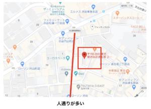 ホテルエイジアまでの地図